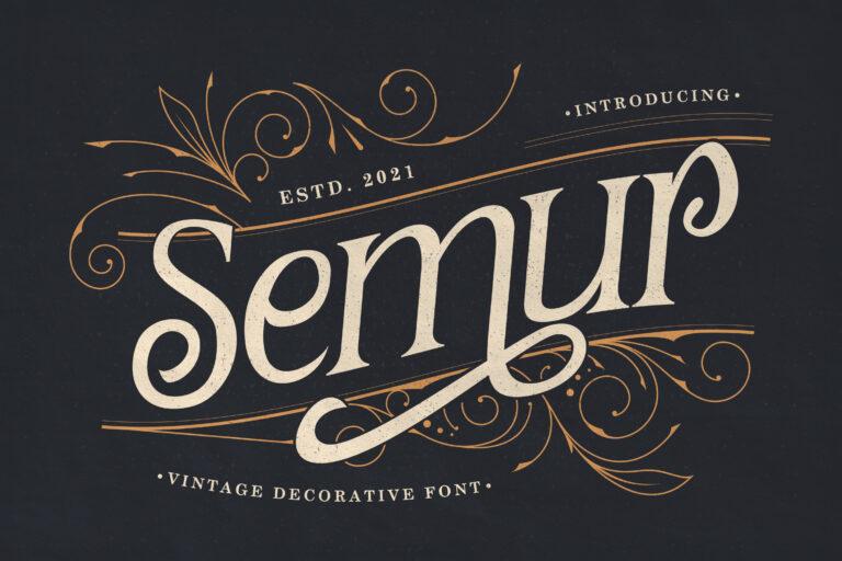 Semur - Vintage Display Font
