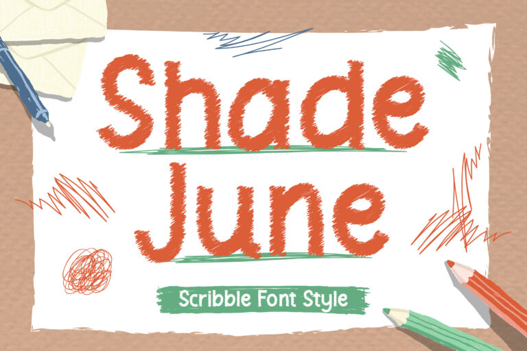 Shade June - Scribble Font Style