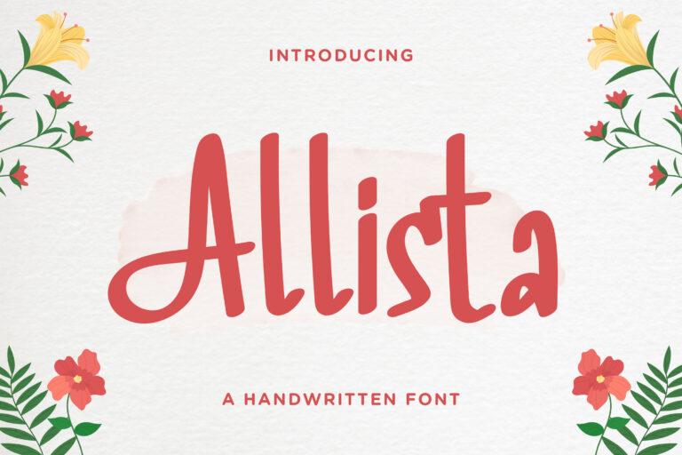 Allista - Fancy Handwritten Font