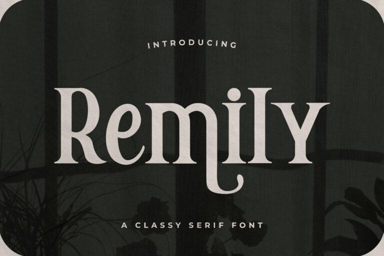 Remily - A Classy Serif Font