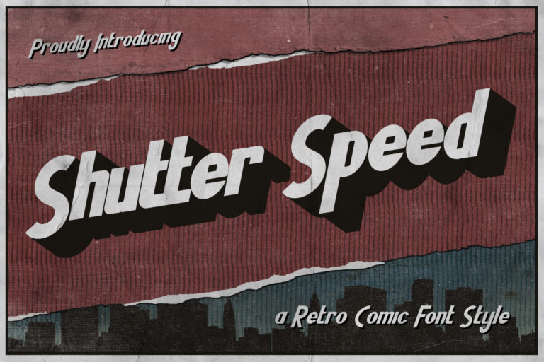 Shutter Speed - A Retro Comic Font