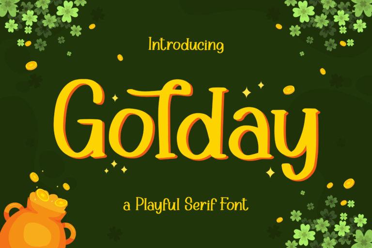 Golday - Playful Serif Font