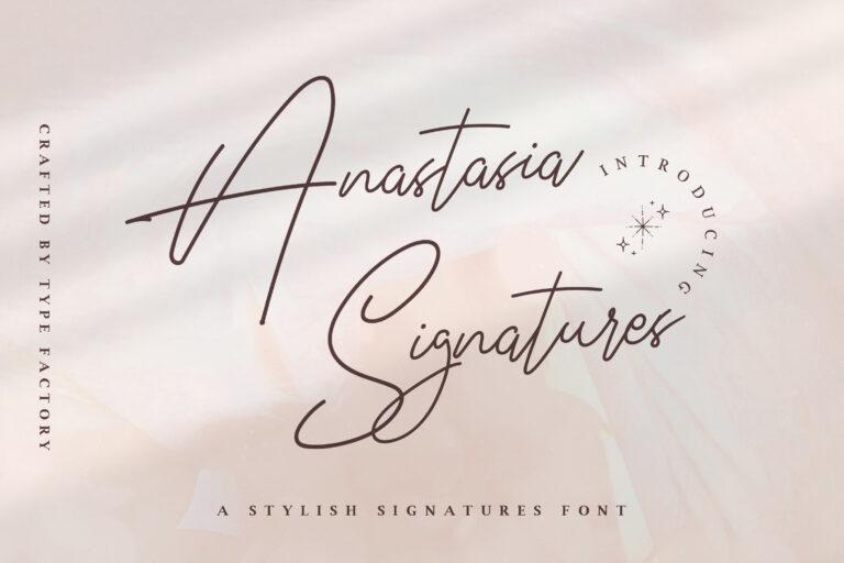Anastasia Signature - Stylish Signature Font
