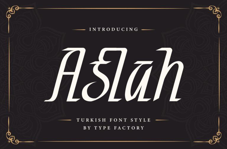Aslah - Turkish Font
