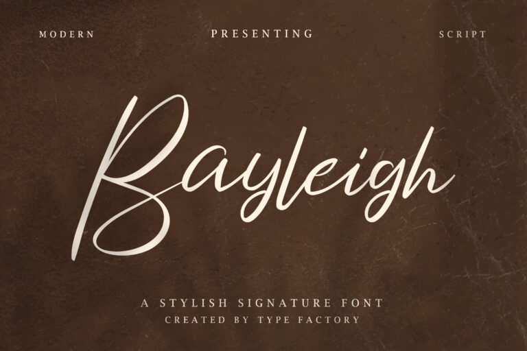 Bayleigh - Stylish Signature Font