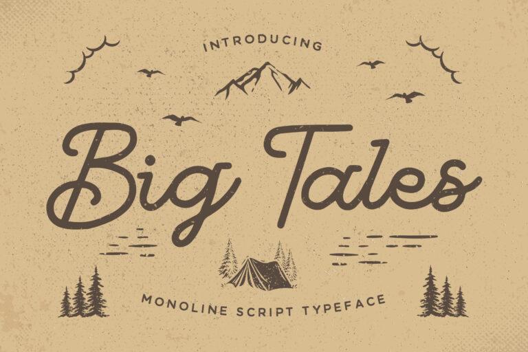 Big Tales - Monoline Script