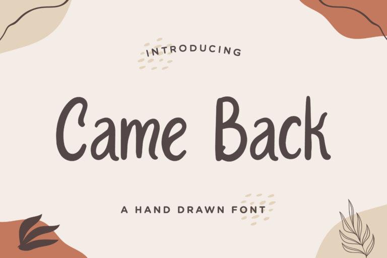 Came Back  - Handwritten Font