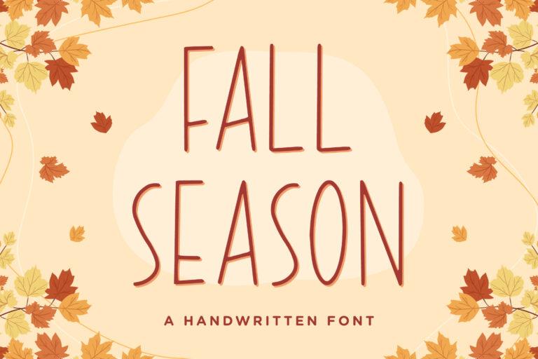 Fall Season - Handwritten Font