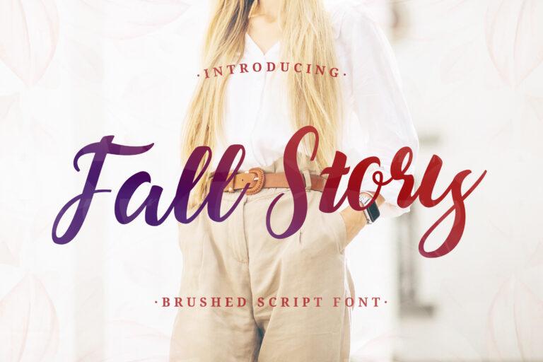 Fall Story - Casual Brush Font