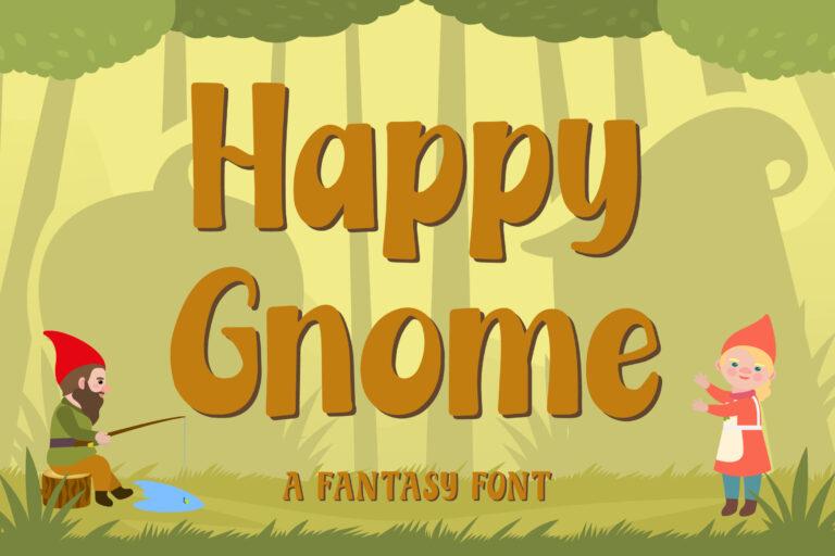 Happy Gnome - Fantasy Font