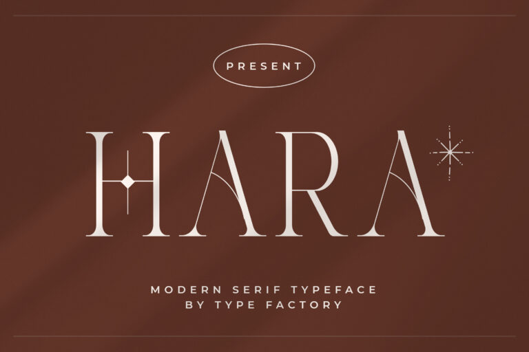 Preview image of Hara – Modern Serif Font