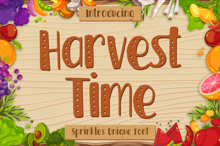 Harvest Time - Sprinkles Font