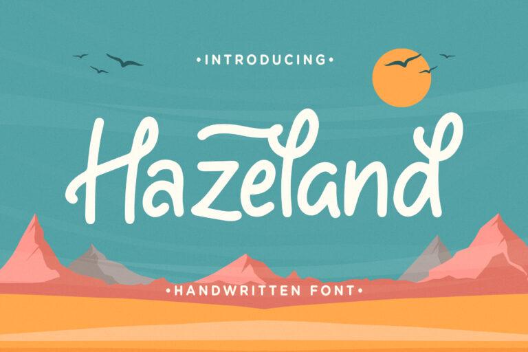 Hazeland - Fancy Handwritten Font