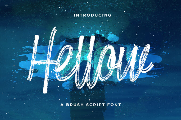 Hellow - Brush Script Typeface