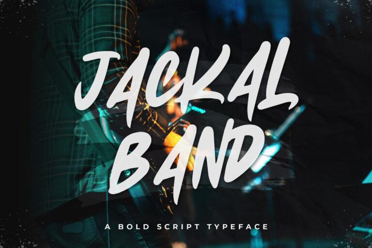 Jackal Band - Bold Script Typeface