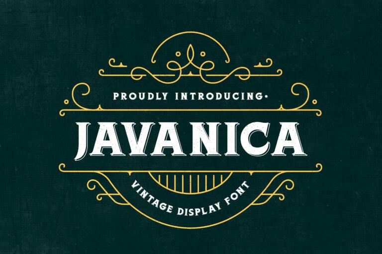 Javanica - Vintage Display Font