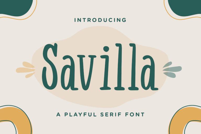 Savilla - Playful Serif Font