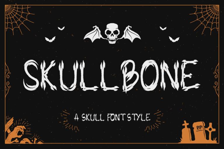 Skullbone - A Skull Font Style
