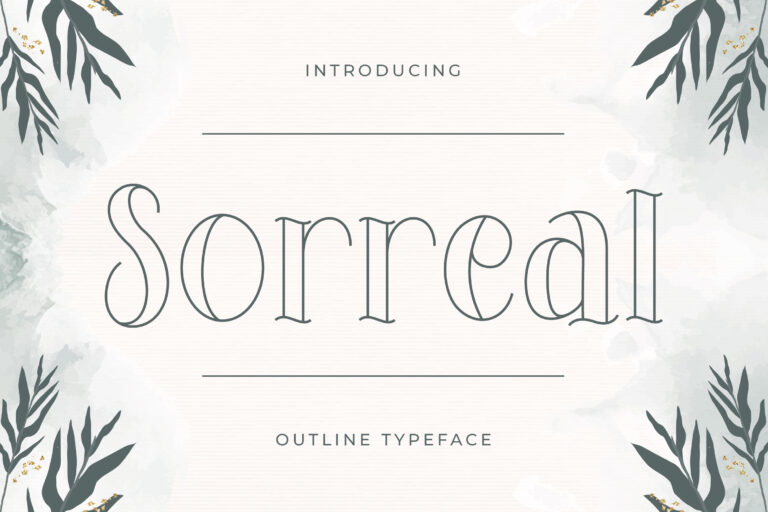 Sorreal - Outline Typeface