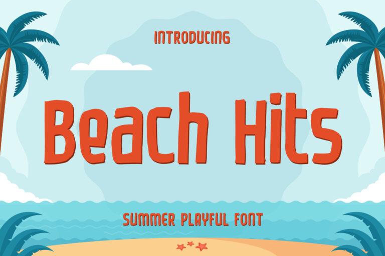 Beach Hits - Summer Playful Font