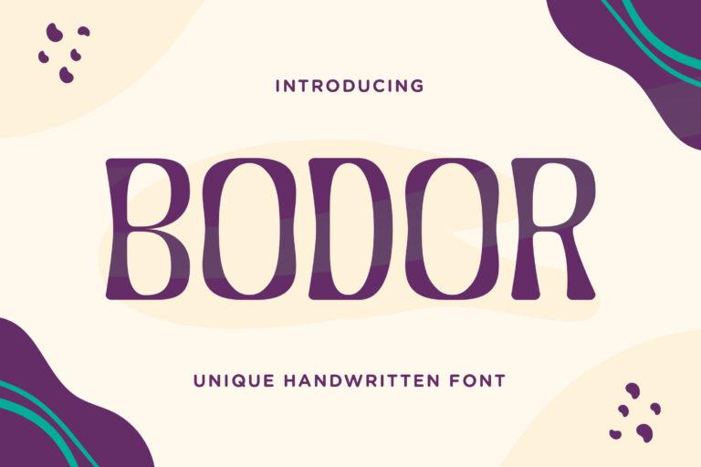 Bodor - Unique Handwritten Font