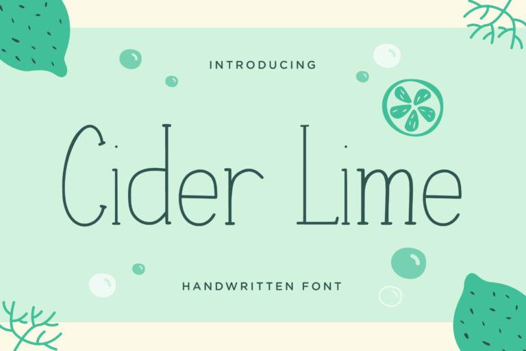 Cider Lime - Handwritten Font