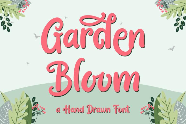 Garden Bloom - Hand Drawn Font