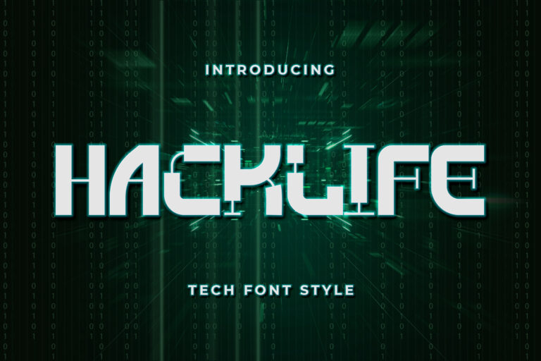 Preview image of Hacklife – Tech Font Style