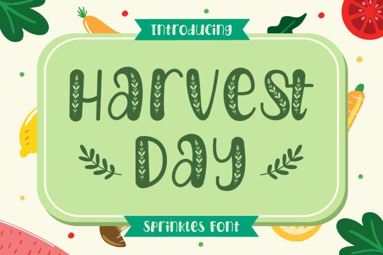 Harvest Day - Sprinkles Font