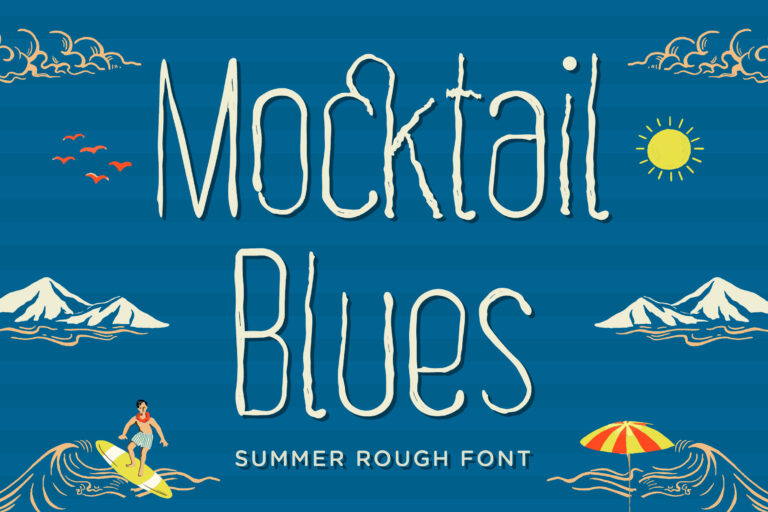 Mocktail Blues - Summer Rough Font