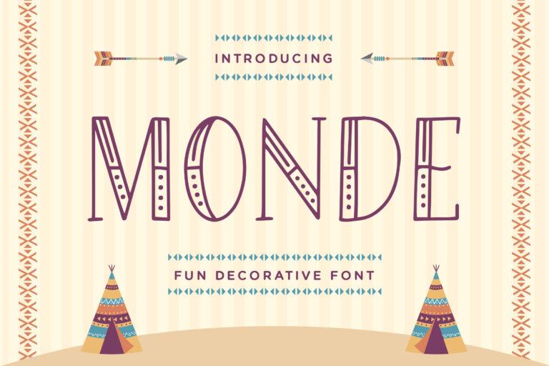 Monde - Fun Decorative Font