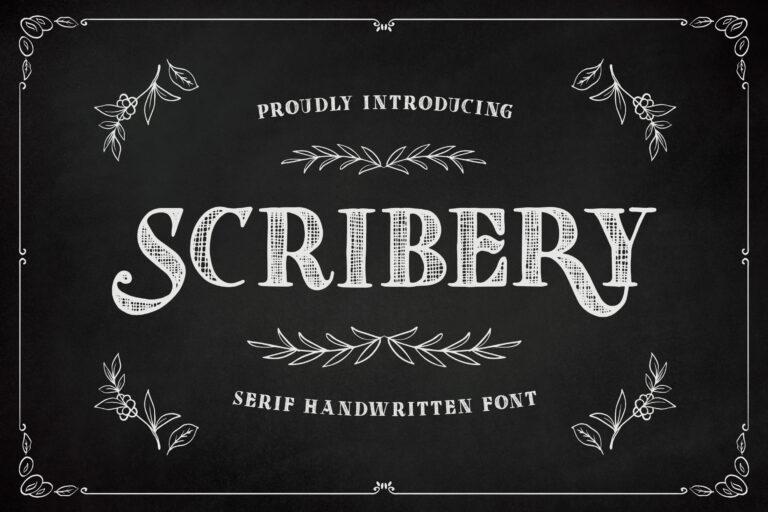 Scribery - Handwritten Serif Font