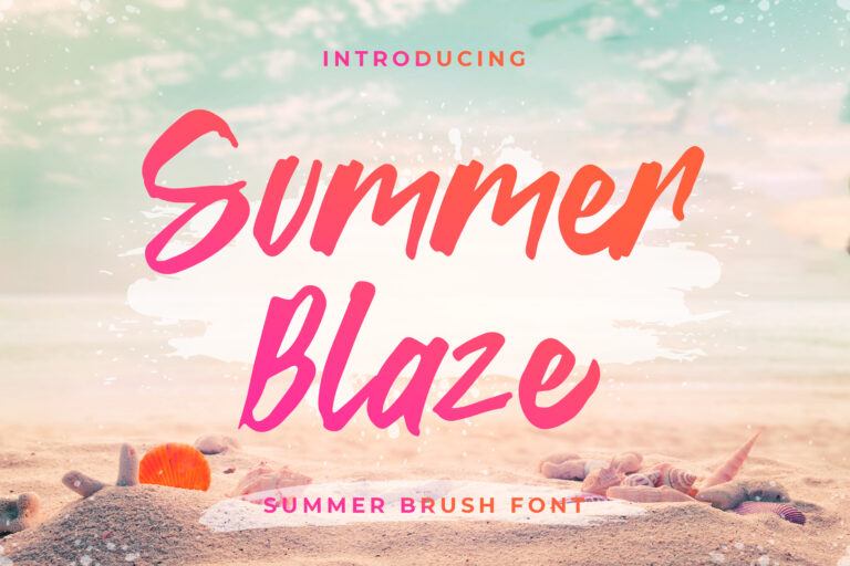 Summer Blaze - Summer Brush Font