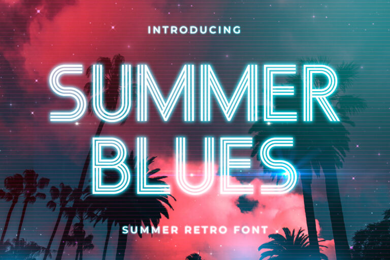 Summer Blues - Summer Retro Font