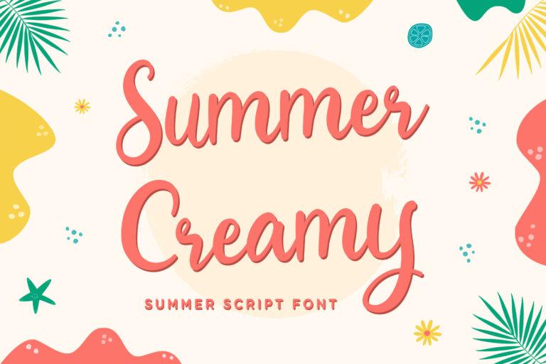 Summer Creamy - Summer Script Font