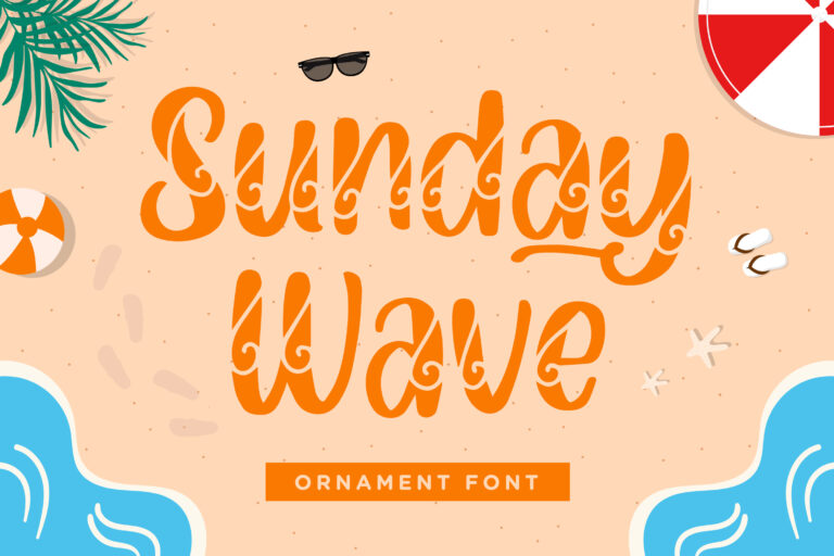 Sunday Wave - Ornament Font