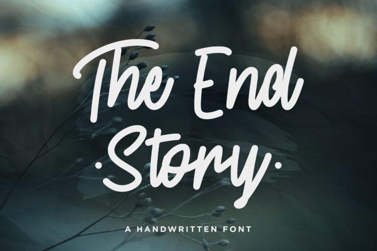 The End Story - Handwritten Font