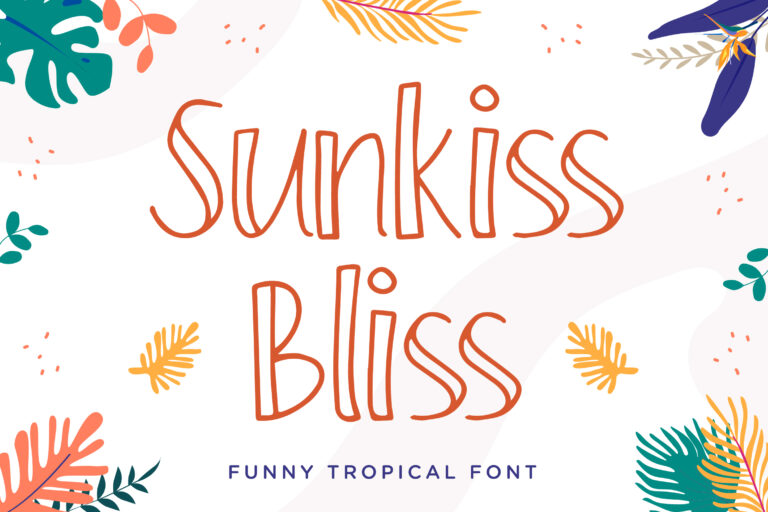 Sunkiss Bliss - Funny Tropical Font