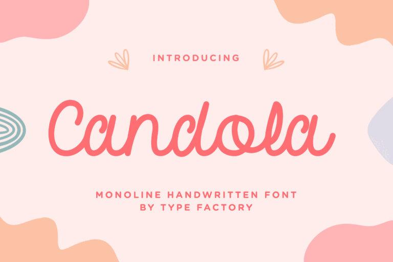 Candola - Monoline Handwritten Font