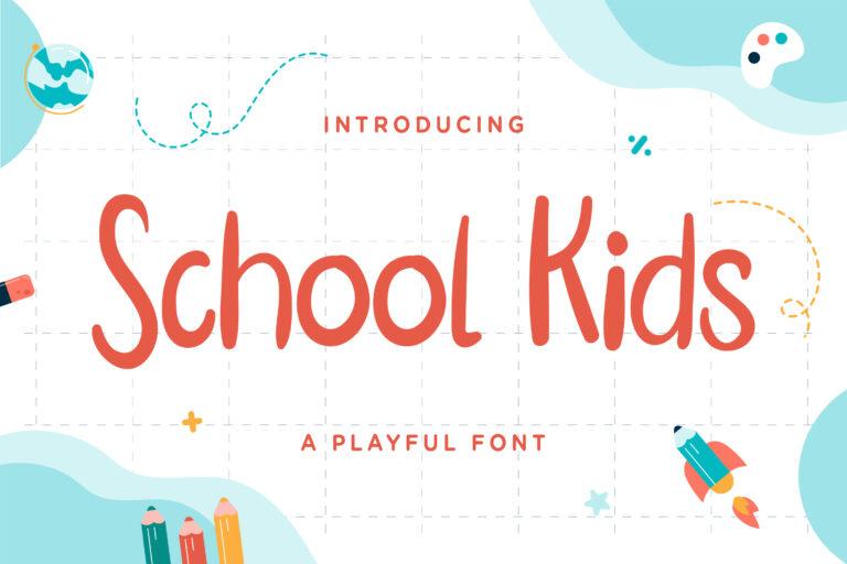 School Kids - Playful Font