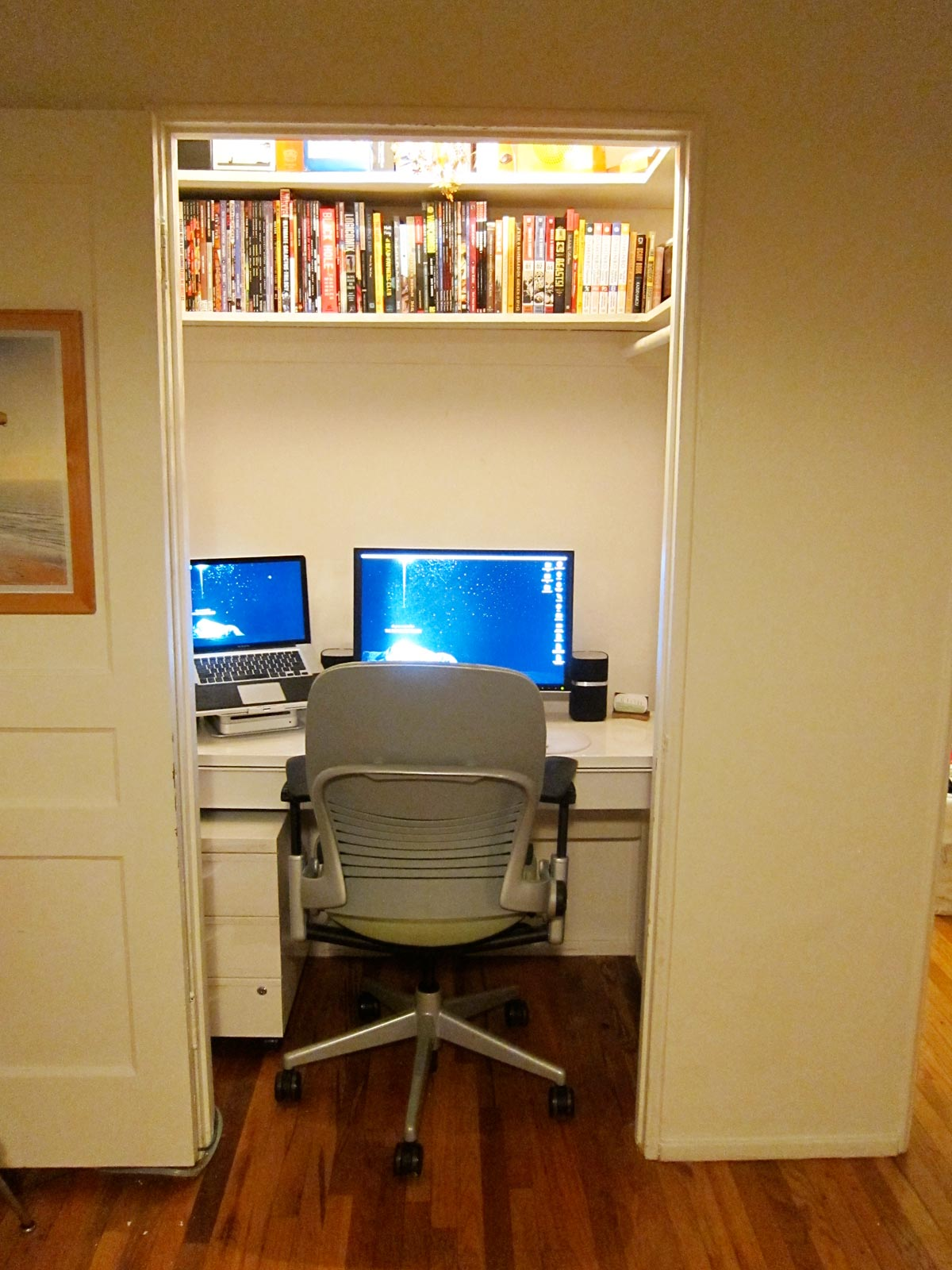 The Trials Tribulations Titillation and Triumphs of the Closet Home Office Project  Typefiend