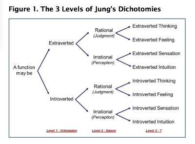Figure 1. The 3 Levels of Jung's Dichotomies