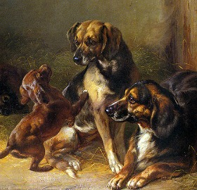 800px-Benno_Adam_-_Dogs_and_Whelps-280x