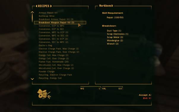 Fallout New Vegas Repair Kit Typenitro