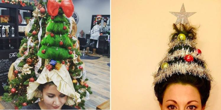 christmas tree hair festive