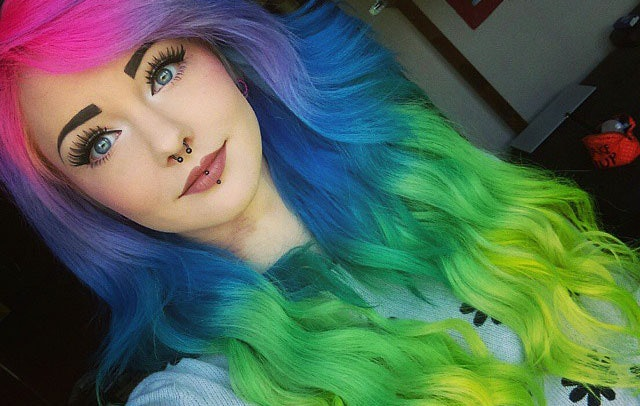 amazing rainbow hair