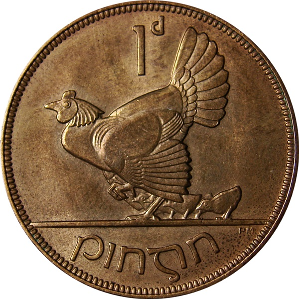Ireland Penny 1928 1968 Hen And Chicks Type Set Coin