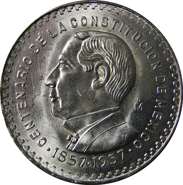 Mexico Peso 1957 Consitution 100th Anniversary Type Set Coin Collecting