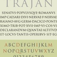 Specimen of Trajan Typeface