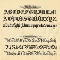 Typographic - Old English Alphabet